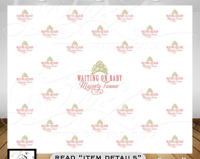 Step & Repeat backdrop, welcome baby back drop, BABY SHOWER, custom step and repeat sign pink gold. Photo booth wall backdrop. {8ft x 8ft}