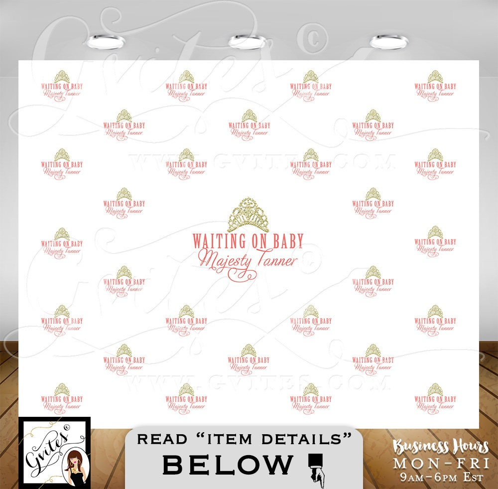 Well-known Step & Repeat backdrop, welcome baby back drop, BABY SHOWER  ZQ36