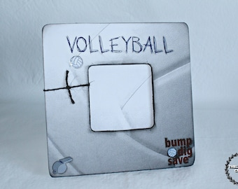 bump dig save Themed Volleyball Frame