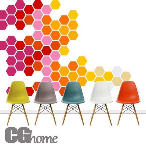 Honeycomb Wall Decals HEXAGON Geometric Pattern Rainbow Wall decals Baby Room Decals Self Adhesive Wall Stickers headboard