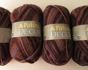 Patons Decor yarn - Color: Tapestry Varg # 87698 - Lot of 4 skeins