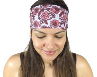 Yoga Headband Floral Workout Headband Running Headband Wide Headband Fitness Headband No Slip Headband Fashion Headband Women Head Wrap S110