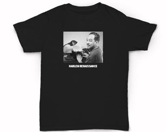 Langston Hughes Harlem Renaissance  T-shirt - Jazz Poet Spoken Word Poetry Activism Social Political Activist New York City