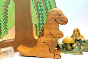 Wooden T-REX Dinosaur, Dinosaur Gift, Dinosaur Shower Gift, Childs Room Decor, Tyrannasaurus Rex Dinosaur,  Waldorf Wooden Dinosaur