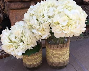 Mason Jar Wrap, YELLOW Lace Mason Jar Decoration, Wedding, Shower, Party, Centerpiece, Decoration