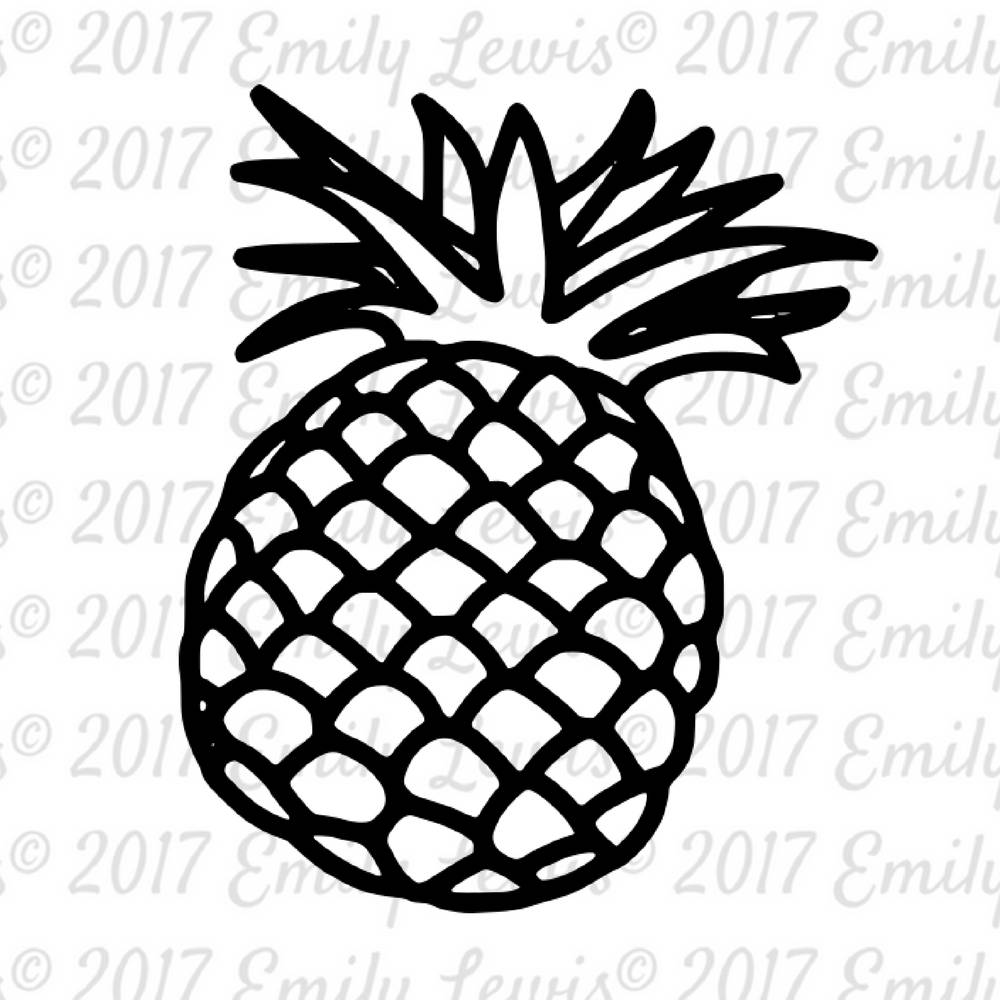 Pineapple SVG Pineapple SVGs pineapple pineapple svg for Clipart Pineapple Black And White  193tgx