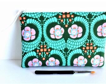 BOHO MAKEUP BAG - Boho Clutch - Boho Zipper Pouch - Small Makeup Bag - Colored Pencil Bag - Artist Gift