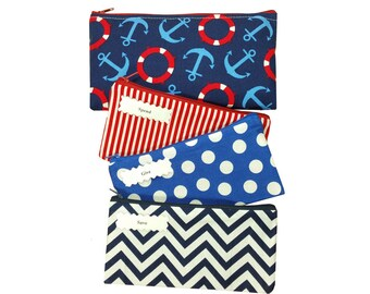 Kids Cash Envelope Wallet, Kids Cash Budget System, Give, Save, Spend -Nautica- for use with the Dave Ramsey System