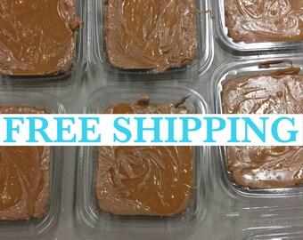 Free Shipping, Chocolate Salted Caramel Fudge, Creamy Fudge