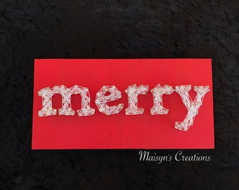 Merry String Art Sign | MADE TO ORDER