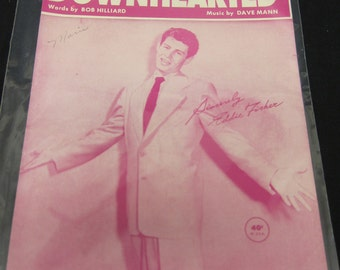 Downhearted (Sheet Music) Hilliard & Mann As Sung By Eddie Fisher