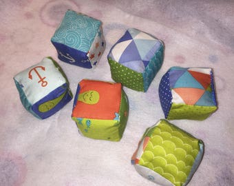 Custom made children's blocks (set of 6)