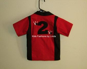 Red/Black  Birthday Bowling Shirt