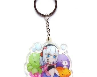 Anime Eromanga Sensei Izumi Sagiri Cosplay Acrylic Strap Charm Keychain Keyring