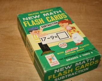 Milton Bradley Math Flash Cards - Subtraction - item #1442