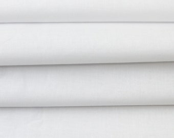 """60"""" White Cotton Sheeting Fabric for Bed Sheets, Arts and Crafts DIY Project, Curtain, Upholstery Fabric"""