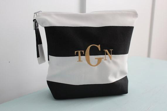 monogrammed makeup bag wet bag water