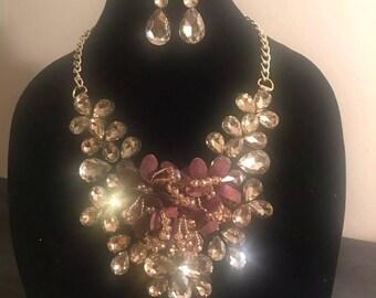 Shimmer Custom Bib Statement Necklace