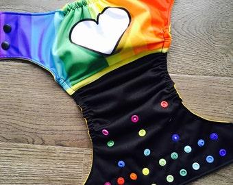 Pre-order - Cloth diaper - Cloth diaper Rainbow rainbow gay pride gay pride