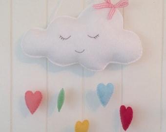 Pretty sleeping cloud wall hanging
