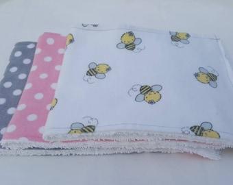 Flannel/Terry Cloth Baby Burp Cloth