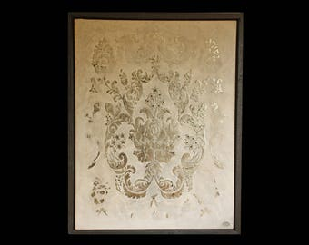 Silver Damask Painting