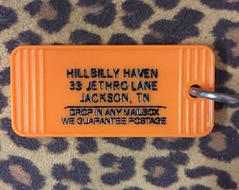 Hillbilly Haven Vintage Look Motel Key FOB