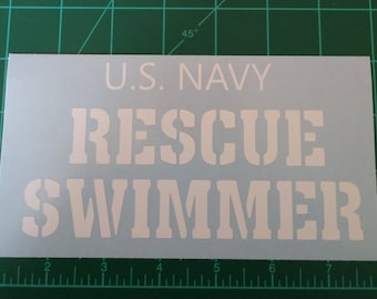 USN Rescue Swimmer Decal