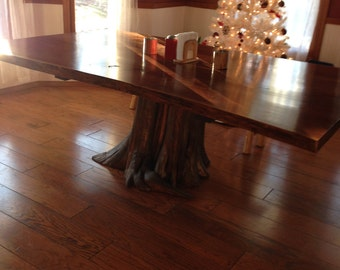 Stump Table, Rustic Table, Live Edge Table, Walnut Dining Table