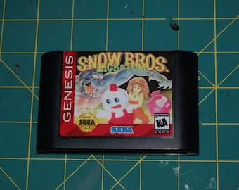Snow Brothers! Sega Genesis Repro!