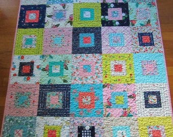 Scrappy-ish Meriwether and Maribel Quilt - Baby Girl, Toddler, Crib