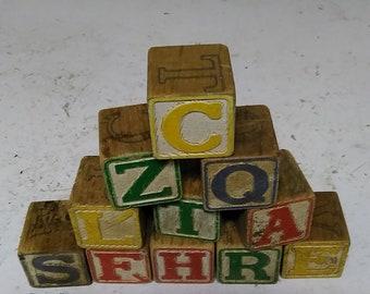 20 Wood alphabet blocks
