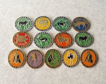 Wild Animals Pins, Moscow Zoo, Soviet Zoo Badges, Fauna Pins, Instant Collection, Animals Badges, Animals Brooch