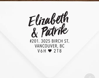 Return Address Stamp #87 - Wooden or Self-Inking - Personalized - Gifts, Weddings, Newlyweds, Housewarming - INCLUDES HANDLE