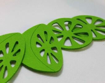 Felt Coasters Home Decor - set of 4 Lemon Citron Design
