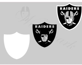 Oakland SVG and Studio 3 Cut File Cutouts Files - Logo Stencil Silhouette Logos Cricut Decal SVGS Stencils Decals Raiders Football
