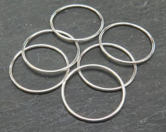 Sterling Silver Stacking Ring 20mm ~ Size P