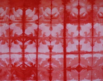 Hand dyed Shibori Fabric one yard - 118