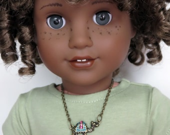 Fits American Girl Dolls and Other 18 Inch Dolls.  Camel Necklace.  Doll Jewelry.