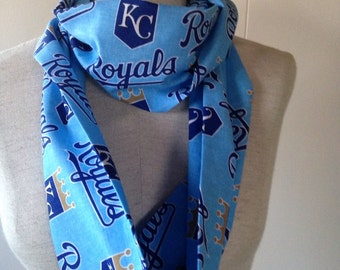 Kansas City Royals Blue Cotton Infinity Scarf