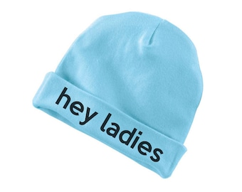 Hey Ladies Funny Cotton Beanie For Infants