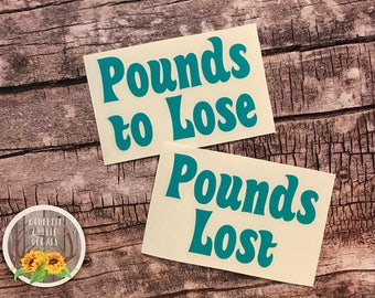Pounds Lost | Pounds to Lose | Weight Loss | Motivational | Vinyl Decal Set | Jar Decal