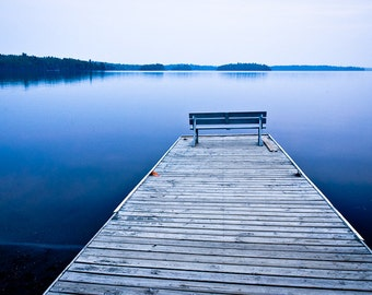 Blue Water Art - Lake Home Decor, Minnesota Fine Art, Blue Color Fine Art Photography Print