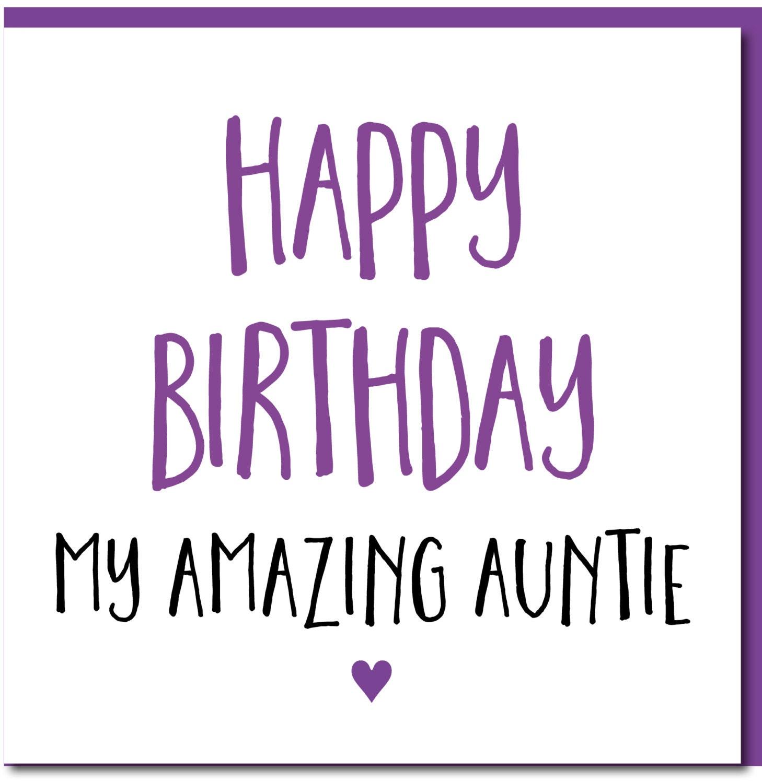 Birthday card female funny auntie happy birthday amazing zoom bookmarktalkfo Choice Image