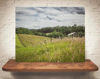 Barn Photograph - Fine Art Print - Color Photography - Wall Art - Wall Decor -  Barn Pictures - Farmhouse Decor - Clouds - Field