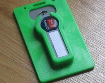 3D Printed RSA SecureID Badge Holder (Custom Options Available)