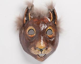 maskuerade  paper squirrel mask