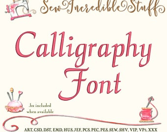 Calligraphy Script Machine Embroidery Font