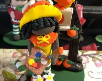 Vintage Classic Strawberry Shortcake Orange Blossom Polymer Clay figure