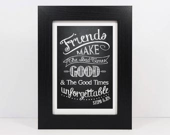 Framed Personalised Friend Quote | Best Friends Print | Friendship Quote | Friends Print | Best Friend Gift | Friend Print | Best Friend